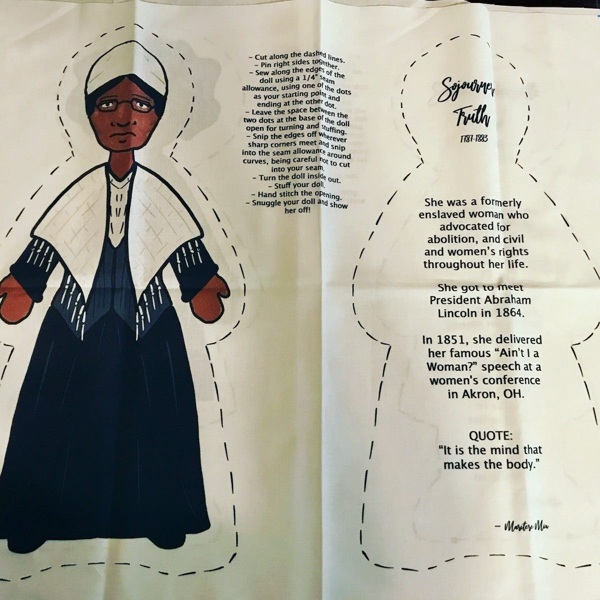 Educational Sojourner Truth doll