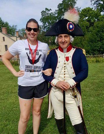 Marquis de Lafayette at Colonial Williamsburg.