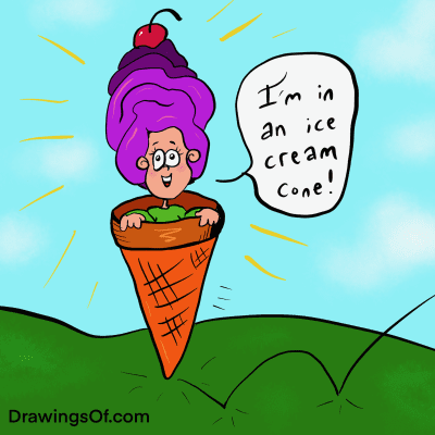 Ice cream cone bouncing