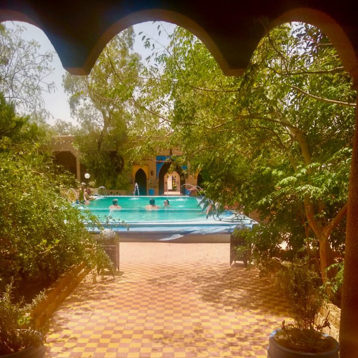 A beautiful oasis of a hotel that GEEO booked, located right in the Sahara.